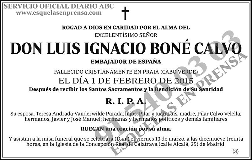 Luis Ignacio Boné Calvo